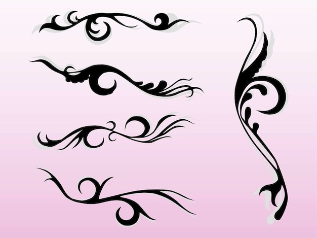 decorative tribal swirls floral graphics vector free download rh freepik com swirl vectors png swirls vector png