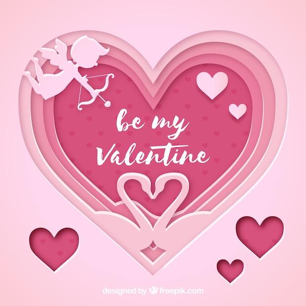 Decorative valentine background Vector | Free Download