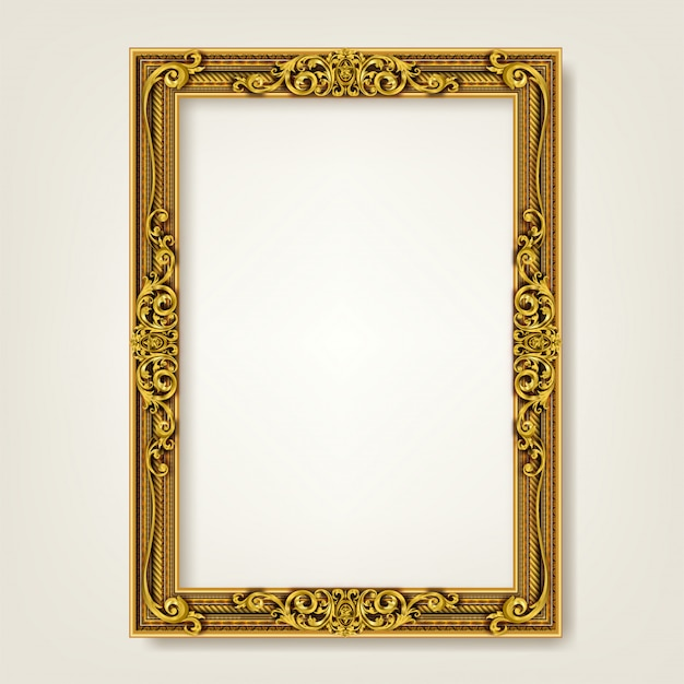 Decorative vintage frame and border Premium Vector