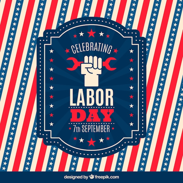 Decorative vintage labor day background
