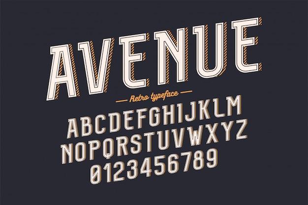Decorative vintage retro typeface Premium Vector