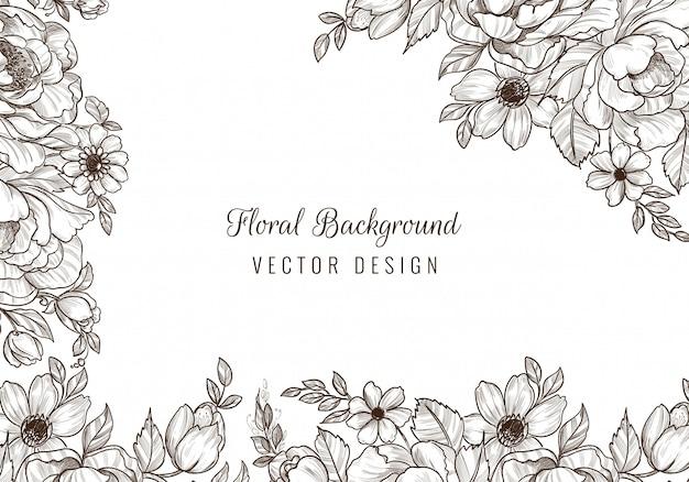 Sfondo floreale matrimonio decorativo Vettore gratuito