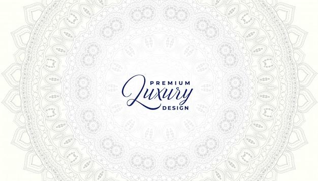 Decorative white mandala ornamental background design template Free Vector
