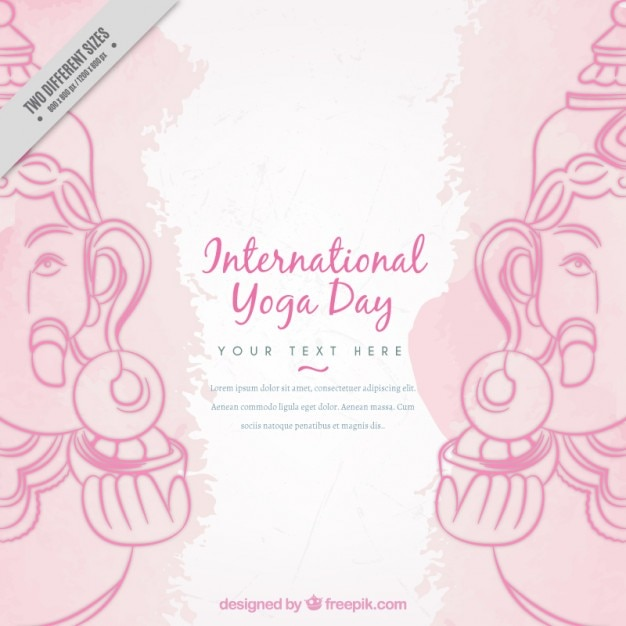 Decorative yoga background with ganpati