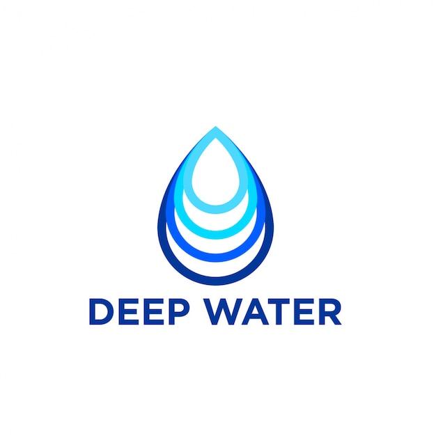 Deep water logo Premium Vector