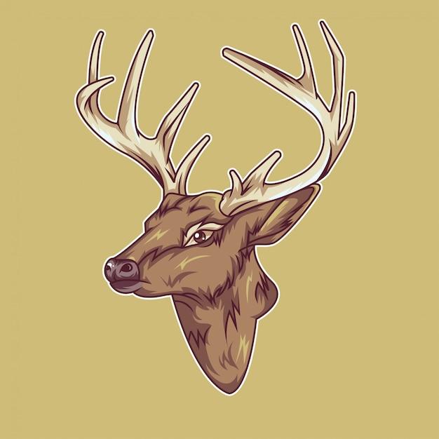 Deer head illustration Premium Vector
