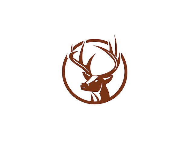 deer head logo and icon element vector premium download rh freepik com deer head logo for women's winter jackets deer head outline logo
