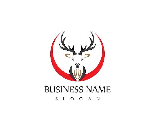 Deer Head Logo Design Template Vector Premium Download