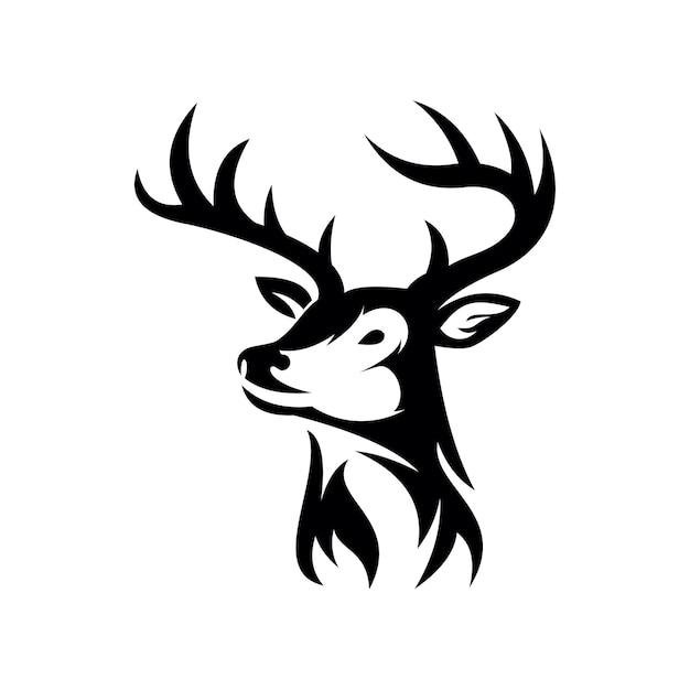 分離された鹿の頭のロゴアイコン Premiumベクター