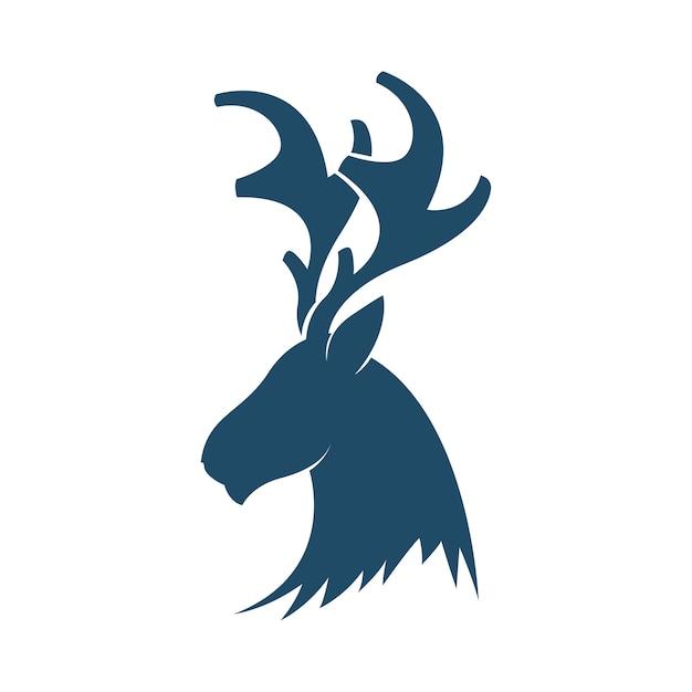 Deer head logo template Vector   Premium Download