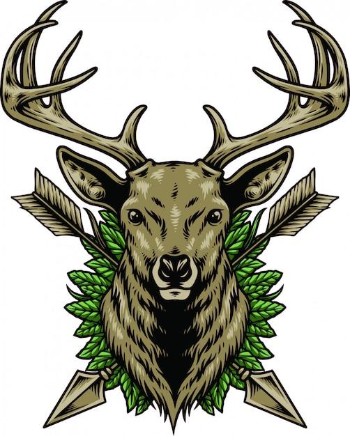 鹿の頭 Premiumベクター