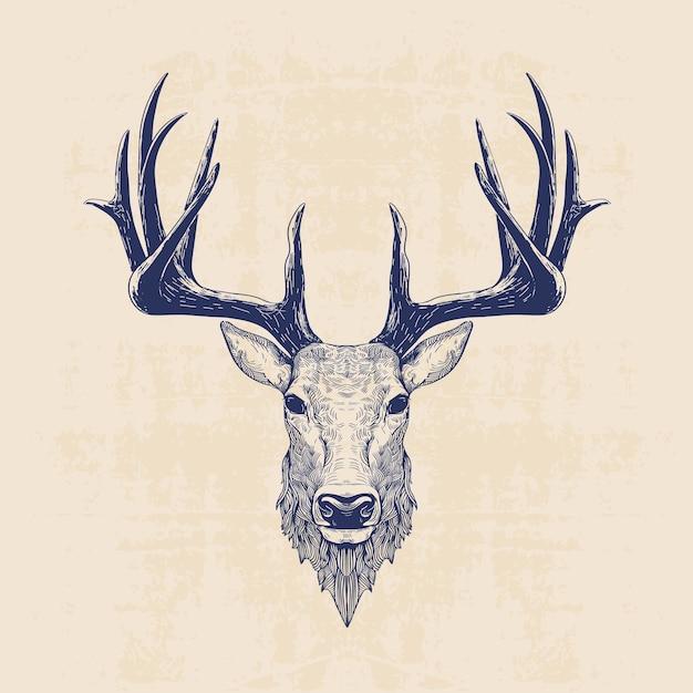 Deer head Premium Vector