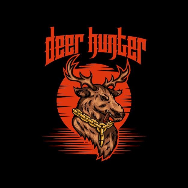 Deer hunter vector illustration Premium Vector