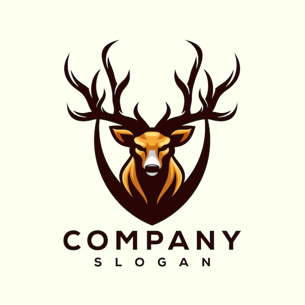 Deer logo designs Premium Vector