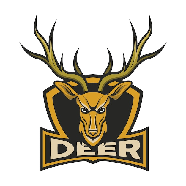 deer logo mascot design vector premium download rh freepik com deer logo company deer logo shirts