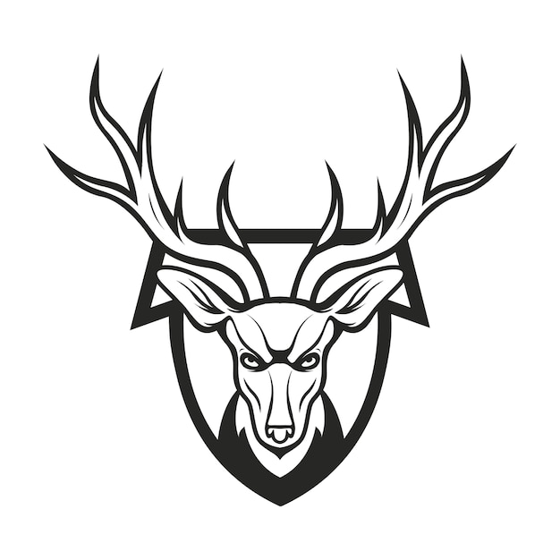 deer logo mascot design vector premium download rh freepik com deer logo clothing deer logo pictures
