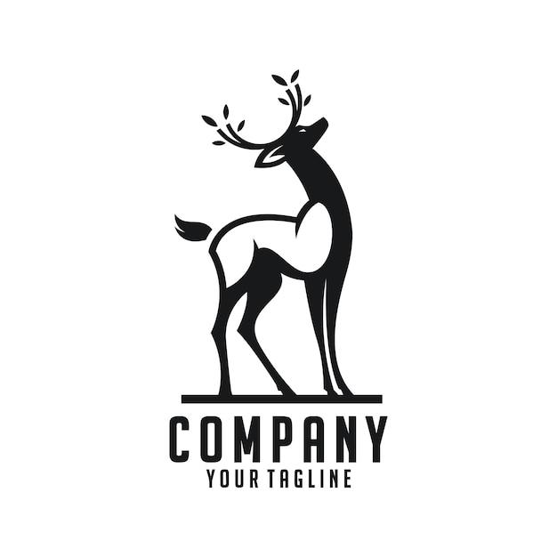 Deer logo Premium Vector
