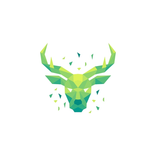 Deer polygon concept illustration Premium Vector