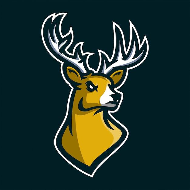 deer stag esport gaming mascot logo template vector premium download