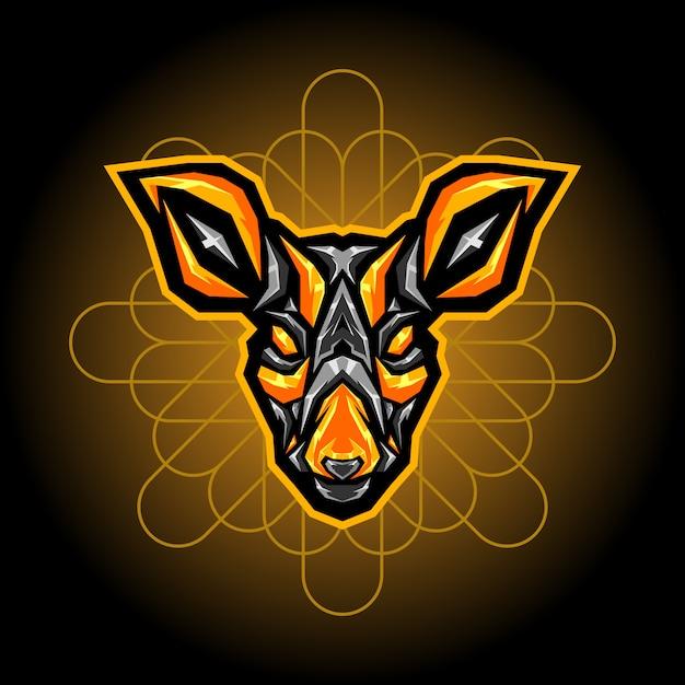 Deer steel esports logo Premium Vector