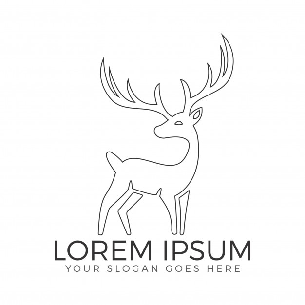 deer vector logo design hunting club logo template vector