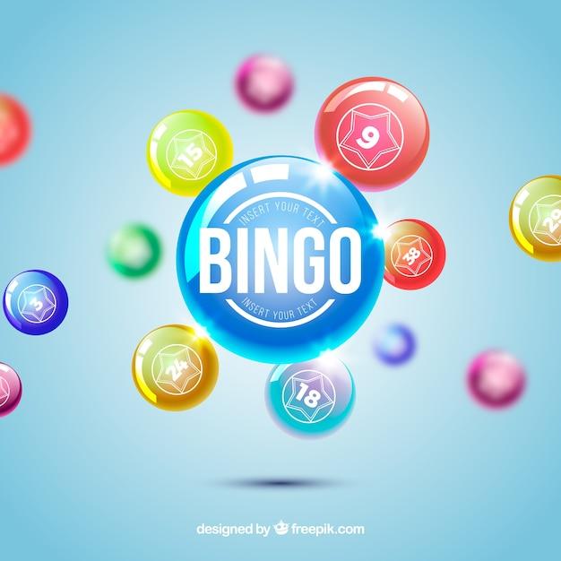 Defocused background of bingo balls Free Vector