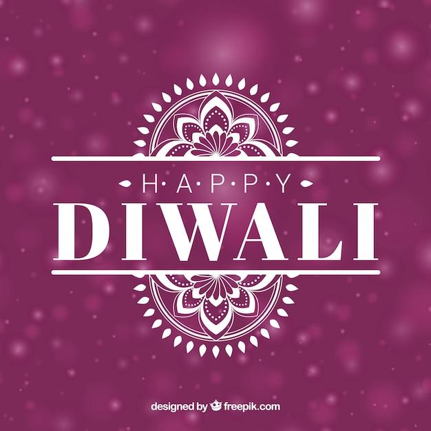 Defocused background of happy diwali