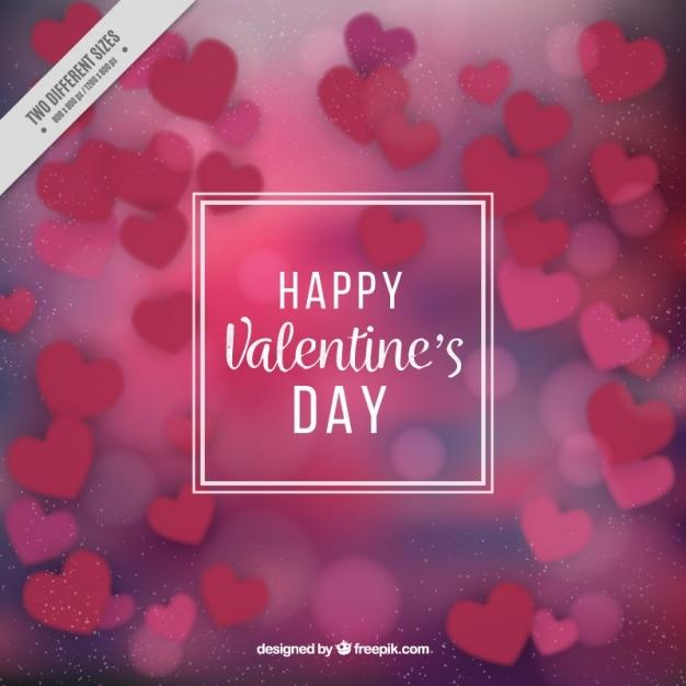 Defocused background of valentine hearts