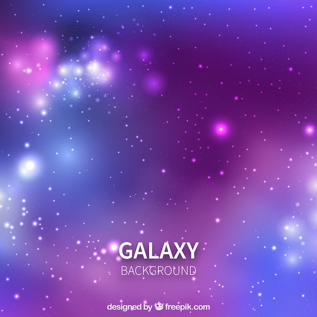 Defocused purple and blue tones background of galaxy