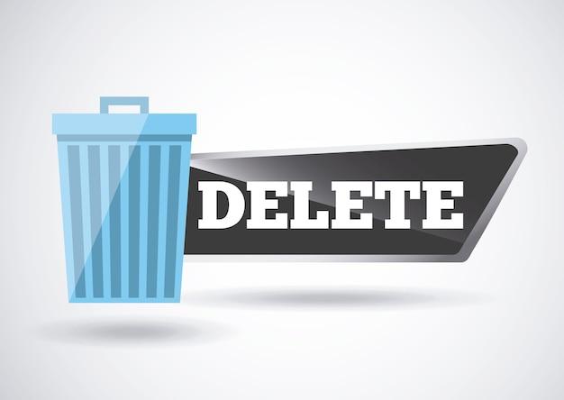 Delete button design Premium Vector