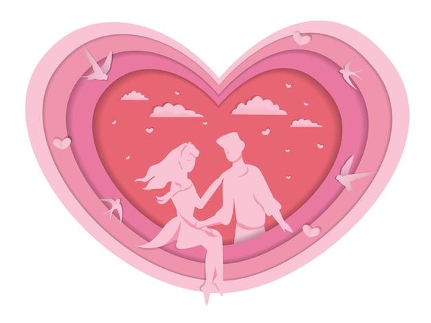 Нежный розовый фон на день всех влюбленных Premium векторы
