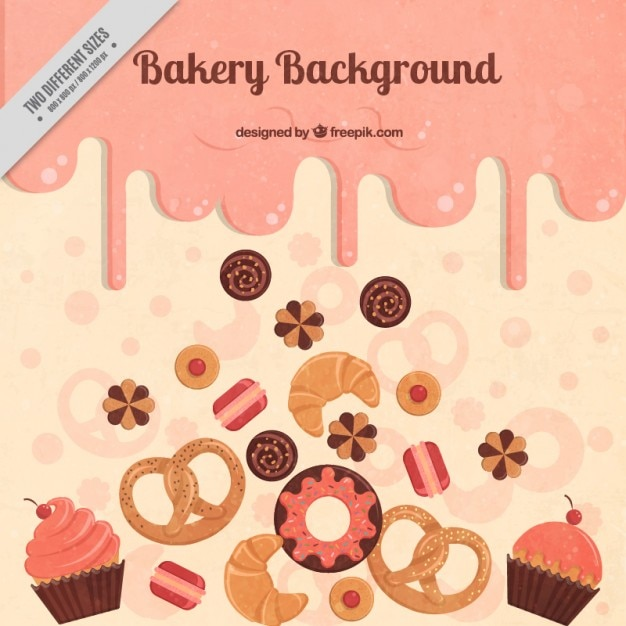 Alimento background delicious Vettore gratuito