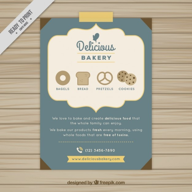 Delicious Bakery Brochure Vector Free Download - Bakery brochure template