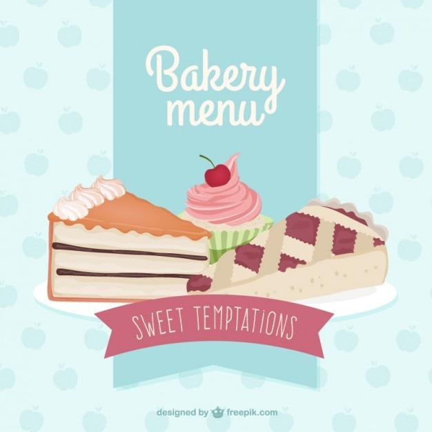 Delicious bakery menu Premium Vector