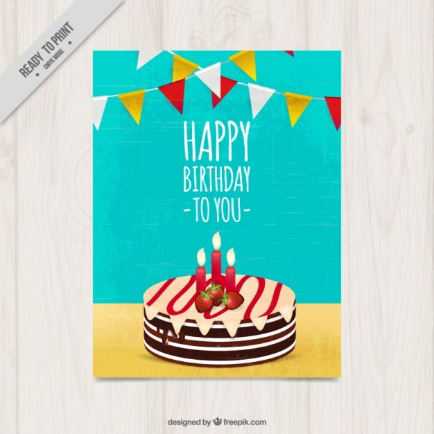Delicious birthday cake card