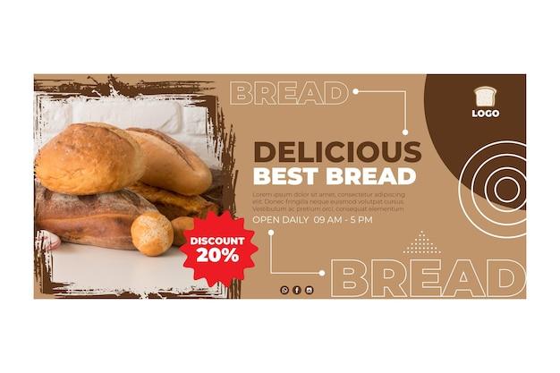 Delicious bread banner concept Free Vector