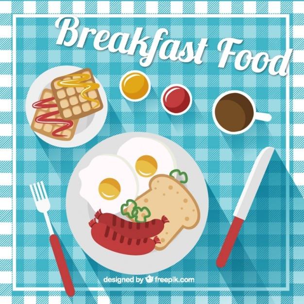 صبحانه خوشمزه در طراحی تخت