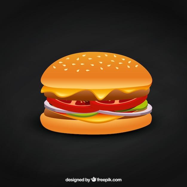 Delicious burger Free Vector