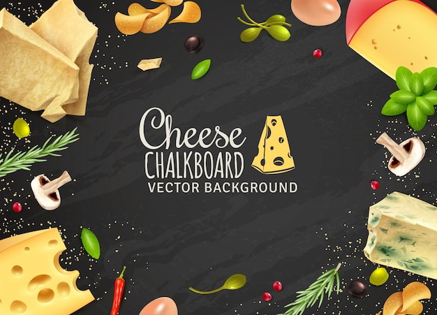 Delicious cheese background Free Vector