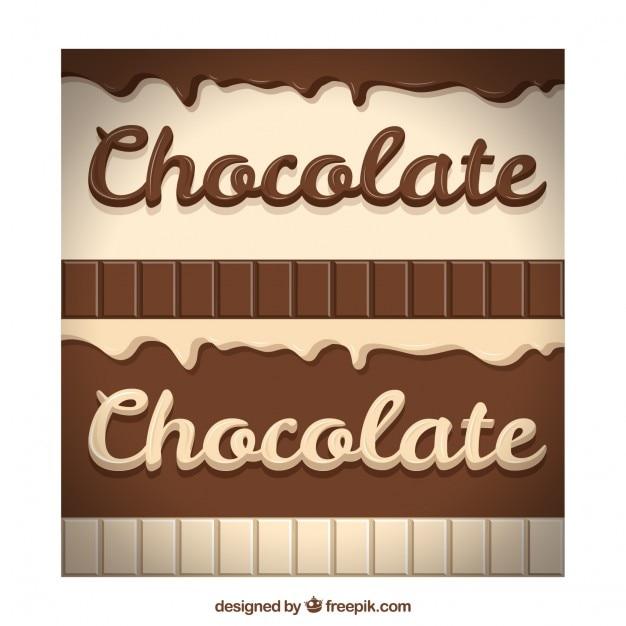 Delicious chocolate Premium Vector