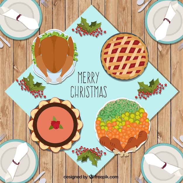 Delicious christmas food card