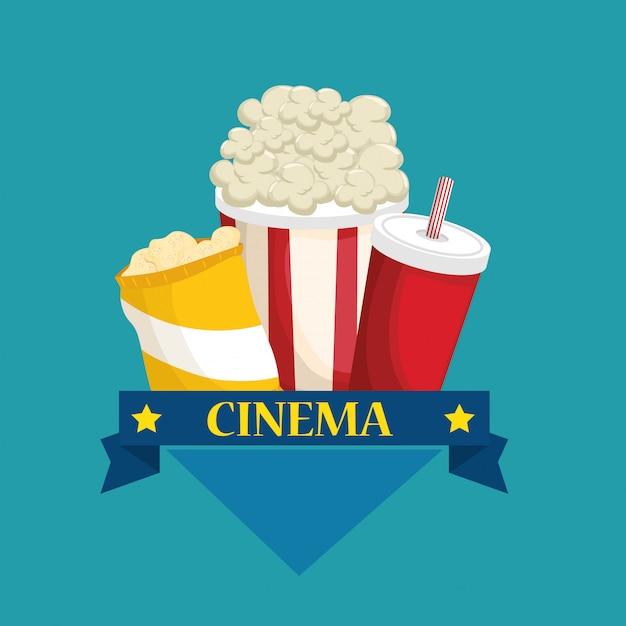 Delicious cinema food menu Free Vector