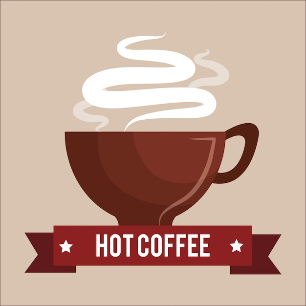 Delicious coffee Free Vector