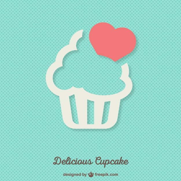 Delicious cupcake background Free Vector