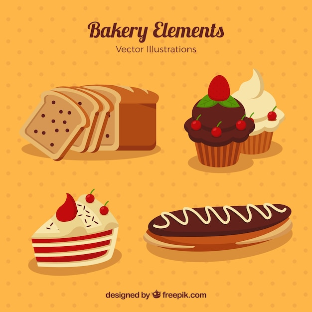 Delicious desserts and bakery products