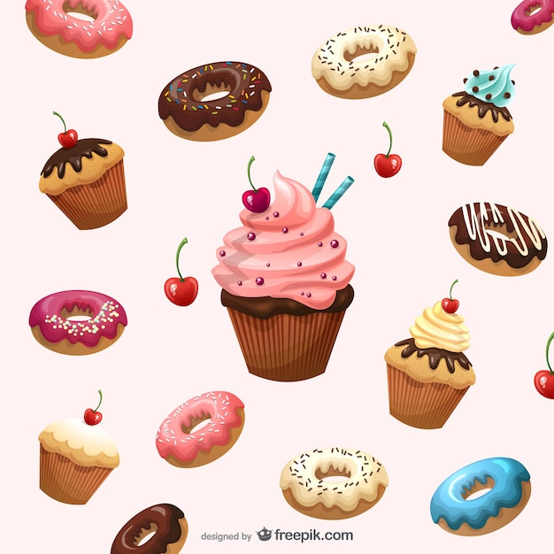 Delicious desserts background