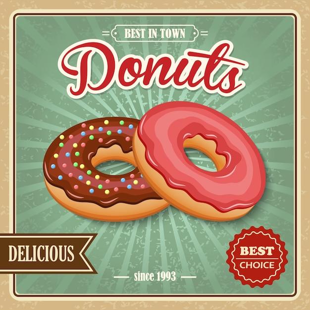 Delicious donuts Premium Vector