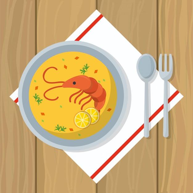 Delicious food cartoon Premium Vector