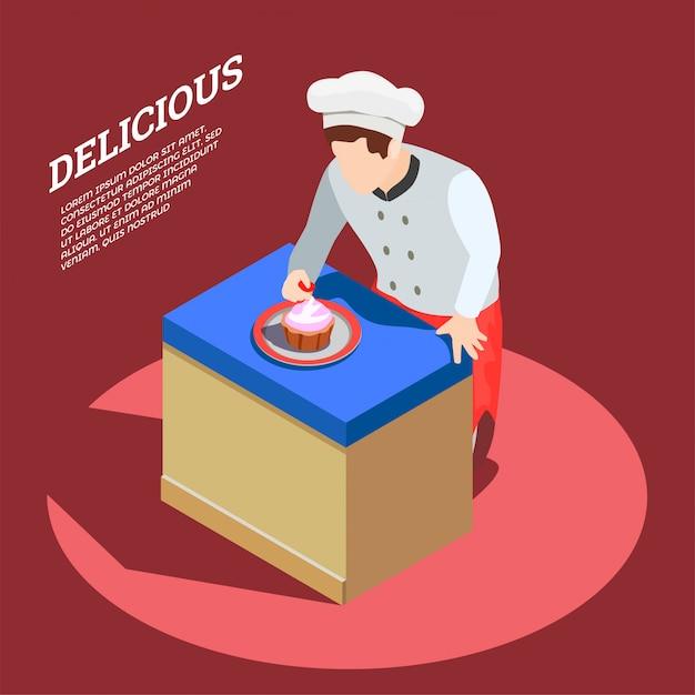Delicious food maker sfondo Vettore gratuito