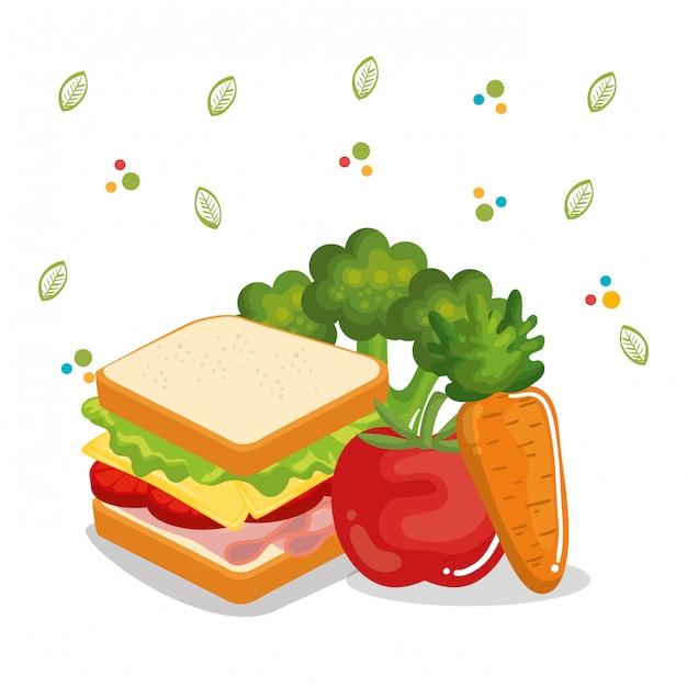 Иконки меню вкусная еда Бесплатные векторы